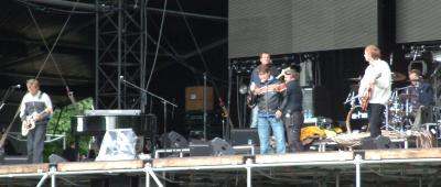 Soundcheck, Frognerparken, Oslo, 25 August - Photo by Lesley Jeavons